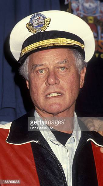 Actor Larry Hagman attends 10th Annual Love Ride Benefit on August 21 1993 at Harley Davidson of Glendale in Glendale California