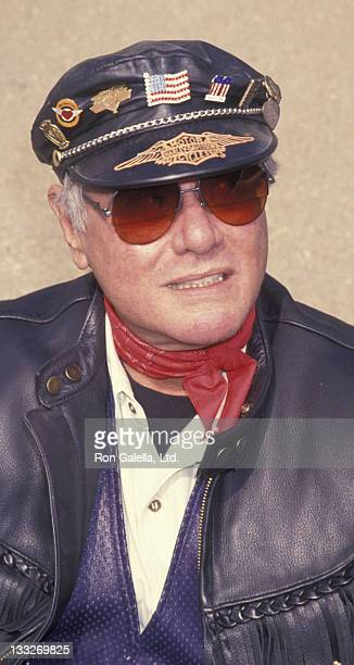 Actor Larry Hagman attends 10th Annual Love Ride Benefit on November 7 1993 at HarleyDavidson of Glendale in Glendale California