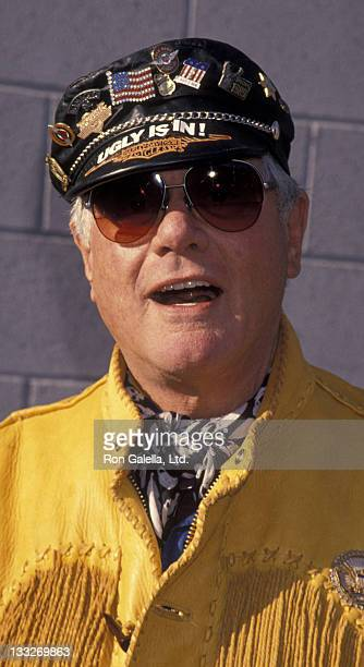 Actor Larry Hagman attends 11th Annual Love Ride Benefit on November 13 1994 at HarleyDavidson of Glendale in Glendale California