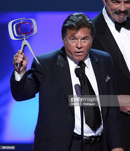 Actor Larry Manetti accepts the Hero Award for Magnum PI onstage at the 7th Annual TV Land Awards held at Gibson Amphitheatre on April 19 2009 in...