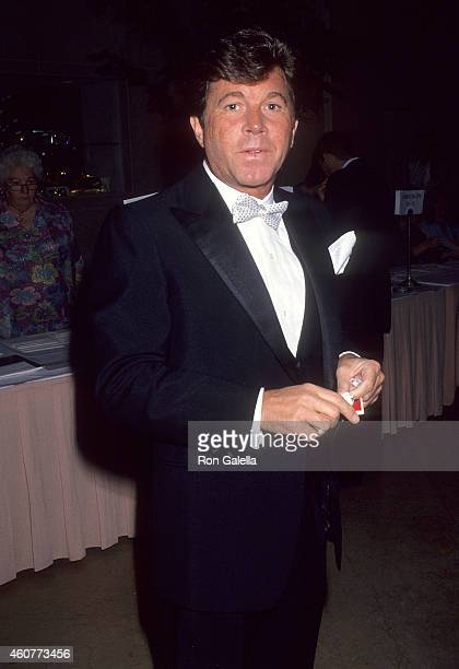 Actor Larry Manetti attends the Women in Show Business' 33rd Anniversary Gala on March 21 1993 at the Beverly Hilton Hotel in Beverly Hills California