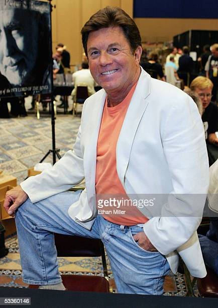 Actor Larry Manetti poses at the Star Trek convention at the Las Vegas Hilton August 11 2005 in Las Vegas Nevada