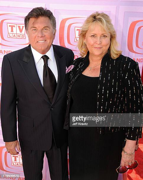Actor Larry Manetti with guest arrives at the 7th Annual TV Land Awards held at Gibson Amphitheatre on April 19 2009 in Universal City California