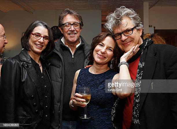 Actor Larry Pine director/ artist Cindy Kleine and composer Bruce Odland attend Andre Gregory Before And After Dinner New York Screening Party at a...