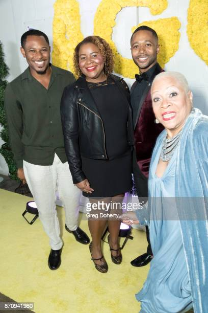 Actor Larry Powell Denise Dowes Brittany Timmonds and Actor Thomas Hobson attends the Wendy Raquel Robinson And Amazing Grace Conservatory's 'There's...