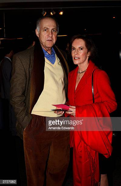 Actor Larry Pressman poses with actress Susan Kohner at the Jack Oakie Lecture on Comedy in Film featuring Paul and Chris Weitz at the Academy of...