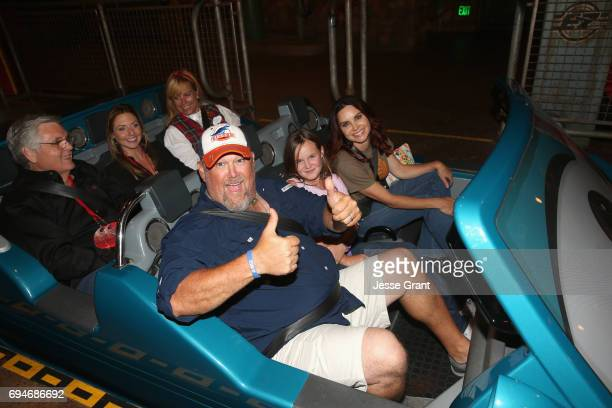 "Actor Larry the Cable Guy and guests at the after party for the World Premiere of Disney/Pixar's ""Cars 3"" at Cars Land at Disney California Adventure..."