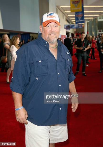 "Actor Larry the Cable Guy poses at the World Premiere of Disney/Pixar's ""Cars 3 at the Anaheim Convention Center on June 10 2017 in Anaheim California"