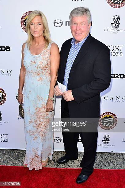 Actor Larry Wilcox and wife Marlene Harmon attend the Festival of Arts Celebrity Benefit Concert and Pageant on August 23 2014 in Laguna Beach...