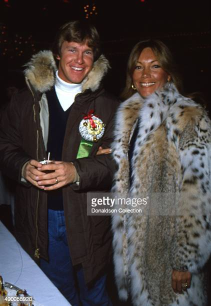 Actor Larry Wilcox attends an the Hollywood Christmas Parade in December 1980 with his wife Hannie Strasser in Los Angeles California