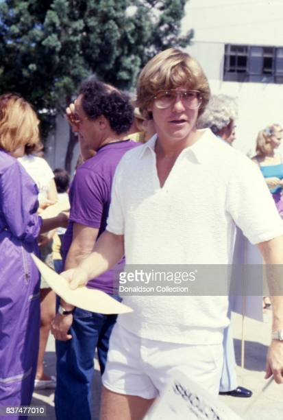 Actor Larry Wilcox attends SAG and AFTRA Actors On Strike in circa 1980 in Los Angeles California