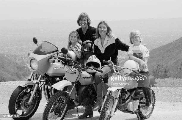 Actor Larry Wilcox with his wife Hannie Strasser and their children