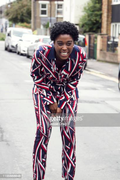 Actor Lashana Lynch is photographed for The Picture Journal on August 18 2017 in London England