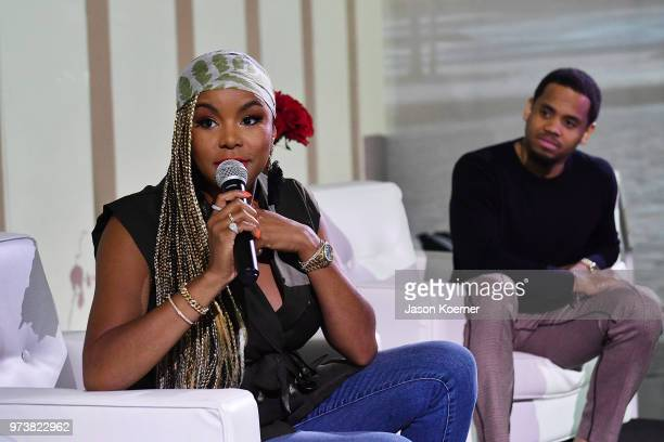 Actor LaToya Luckett speaks on stage at the Cadillac Welcome Luncheon At ABFF Black Hollywood Now at The Temple House on June 13 2018 in Miami Beach...