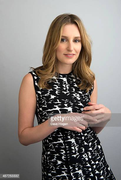 Actor Laura Carmichael poses in the portrait studio at the BFI London Film Festival 2014 October 11 2014 in London England