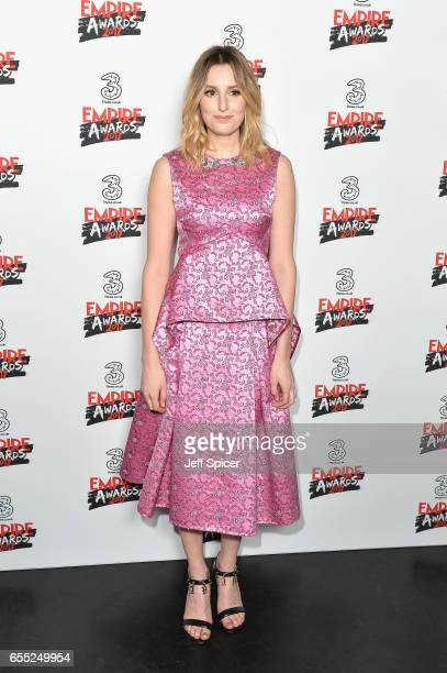 Actor Laura Carmichael poses in the winners room at the THREE Empire awards at The Roundhouse on March 19 2017 in London England