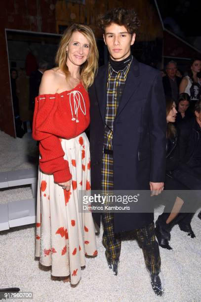 Actor Laura Dern and Ellery Walker Harper attend the Calvin Klein Collection front row during New York Fashion Week at New York Stock Exchange on...