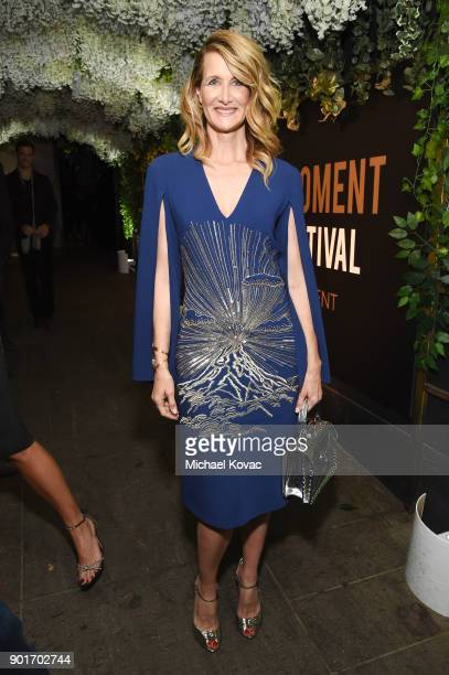Actor Laura Dern attends Moet Chandon celebrates the 3rd annual Moet Moment Film Festival and kicks off Golden Globes week at Poppy on January 5 2018...