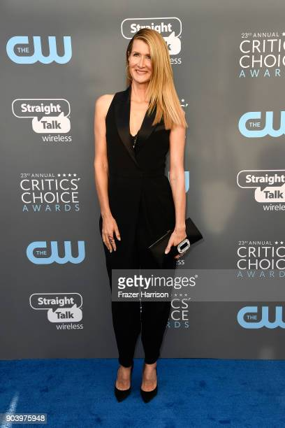 Actor Laura Dern attends The 23rd Annual Critics' Choice Awards at Barker Hangar on January 11 2018 in Santa Monica California