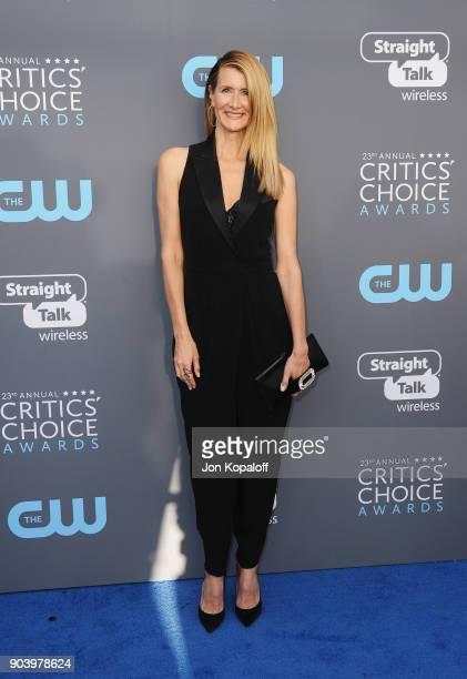 Actor Laura Dern attends The 23rd Annual Critics' Choice Awards at Barker Hangar on January 11 2018 in Santa Monica California