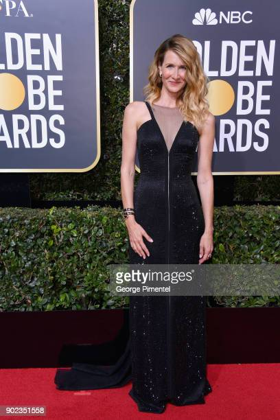 HILLS CA JANUARY Actor Laura Dern attends The 75th Annual Golden Globe Awards at The Beverly Hilton Hotel on January 7 2018 in Beverly Hills...