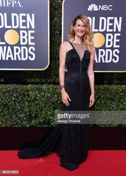 Actor Laura Dern attends The 75th Annual Golden Globe Awards at The Beverly Hilton Hotel on January 7 2018 in Beverly Hills California