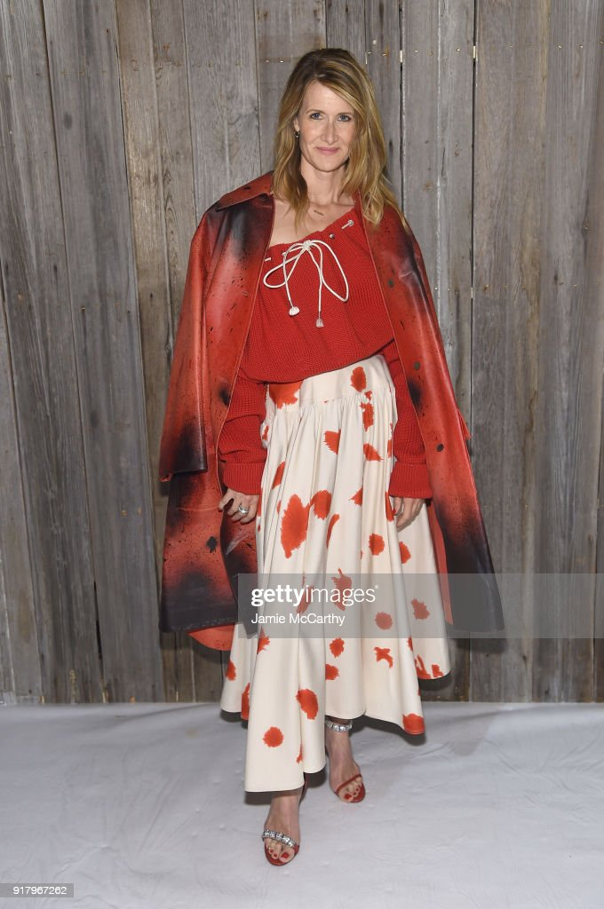 Actor Laura Dern attends the Calvin Klein Collection during New York Fashion Week at New York Stock Exchange on February 13, 2018 in New York City.