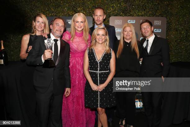 Actor Laura Dern producer Gregg Fienberg actors Nicole Kidman Alexander Skarsgard and Reese Witherspoon and producers Bruna Papandrea and Per Saari...