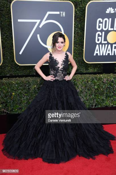 Actor Laura Marano attends The 75th Annual Golden Globe Awards at The Beverly Hilton Hotel on January 7 2018 in Beverly Hills California