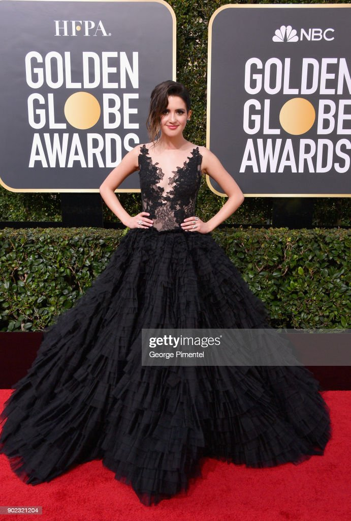 Actor Laura Marano attends The 75th Annual Golden Globe Awards at The Beverly Hilton Hotel on January 7, 2018 in Beverly Hills, California.