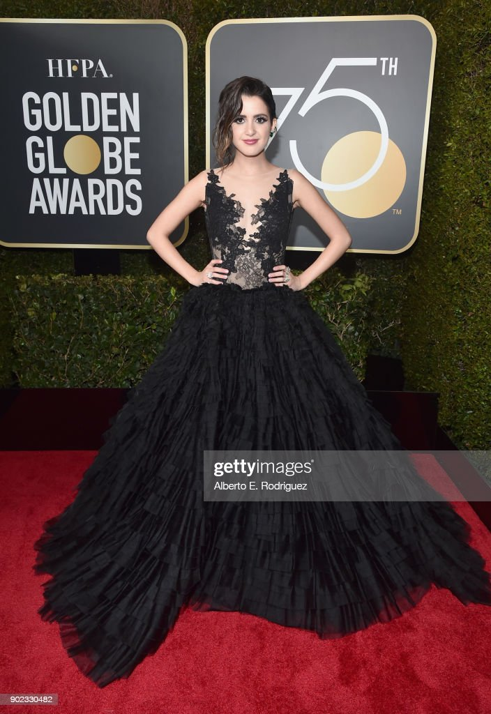 Actor Laura Marano celebrates The 75th Annual Golden Globe Awards with Moet & Chandon at The Beverly Hilton Hotel on January 7, 2018 in Beverly Hills, California.