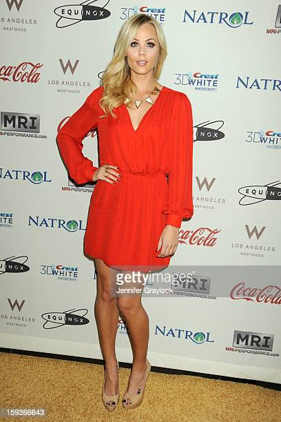 Actor Laura Vandervoort attends the Gold Meets Gold Event held at the Equinox Sports Club Flagship West Los Angeles location on Saturday January 12...