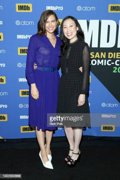 Actor Lauren Cohan and showrunner Angela Kang attend the #IMDboat At San Diego ComicCon 2018 Day Two at The IMDb Yacht on July 20 2018 in San Diego...