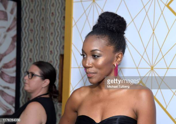 Actor Lauren E. Banks attends the Showtime Emmy Eve nominees celebration at San Vincente Bungalows on September 21, 2019 in West Hollywood,...