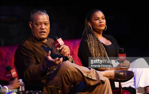 Actor Laurence Fishburne and actress Nia Long attend the SAGAFTRA Foundation's Game Changers Screening Series Boyz N The Hood event at the Ford...