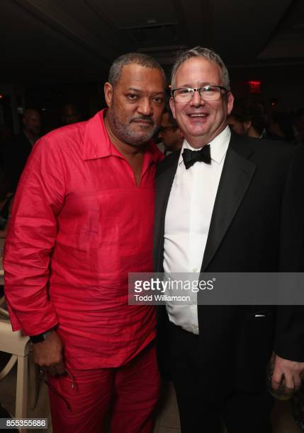 Actor Laurence Fishburne and Amazon Studios Head of Motion Picture Production Ted Hope attend the Last Flag Flying NYFF World Premiere on September...