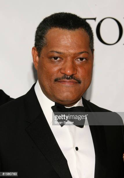Actor Laurence Fishburne arrives at the 62nd Annual Tony Awards held at Radio City Music Hall on June 15 2008 in New York City