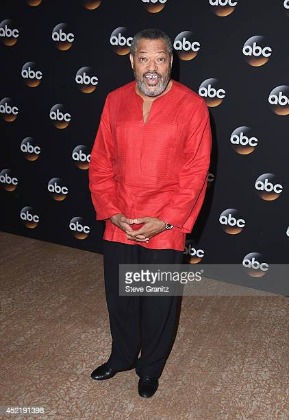 Actor Laurence Fishburne attends the Disney/ABC Television Group 2014 Television Critics Association Summer Press Tour at The Beverly Hilton Hotel on...