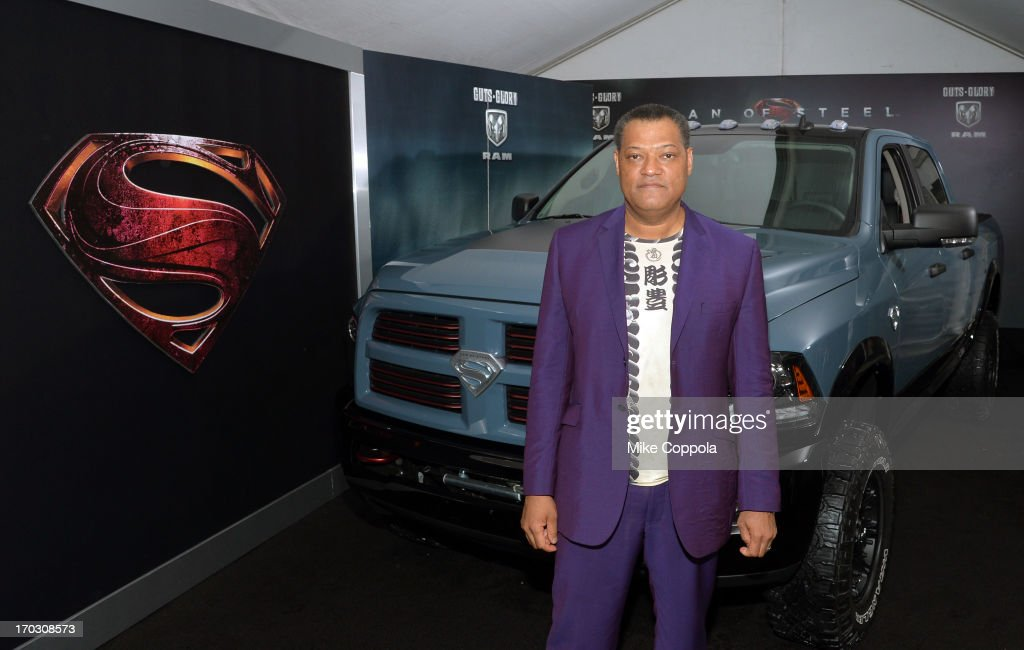 Actor Laurence Fishburne attends the 'Man of Steel' NYC premiere sponsored by RAM at Alice Tully Hall at Lincoln Center on June 10, 2013 in New York City.