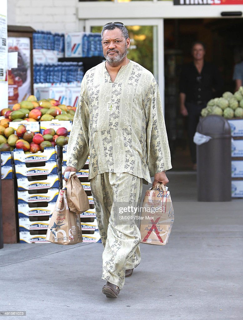 Actor Laurence Fishburne is seen on May 16, 2014 in Los Angeles, California.