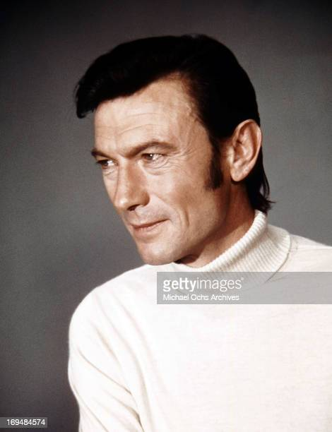 Actor Laurence Harvey poses for a portrait in circa 1970