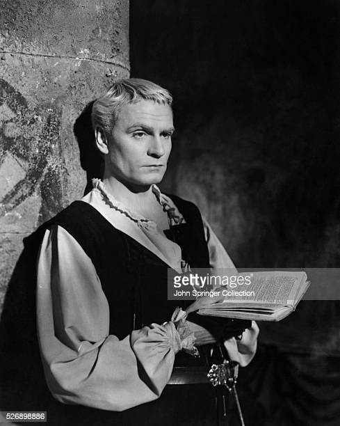 Actor Laurence Olivier as Hamlet in the 1948 film Hamlet