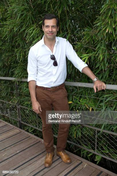 Actor Laurent Lafitte attends the 2017 French Tennis Open Day One at Roland Garros on May 28 2017 in Paris France