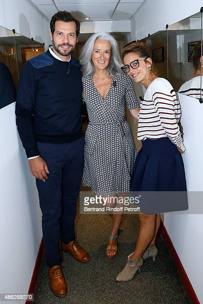 Actor Laurent Lafitte Writer Tatiana de Rosnay and Actress Audrey Dana present the Movie 'Boomerang' during the 'Vivement Dimanche' French TV Show...