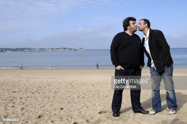 Actor Laurent Ournac with director Marc Gibaja.
