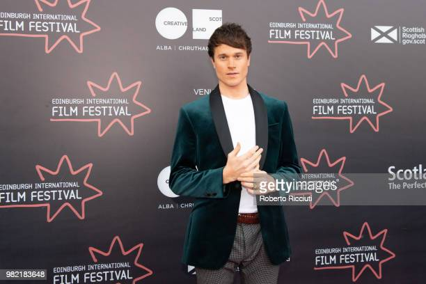 Actor Laurie Calvert attends a photocall for the World Premiere of 'Lucid' during the 72nd Edinburgh International Film Festival at Cineworld on June...