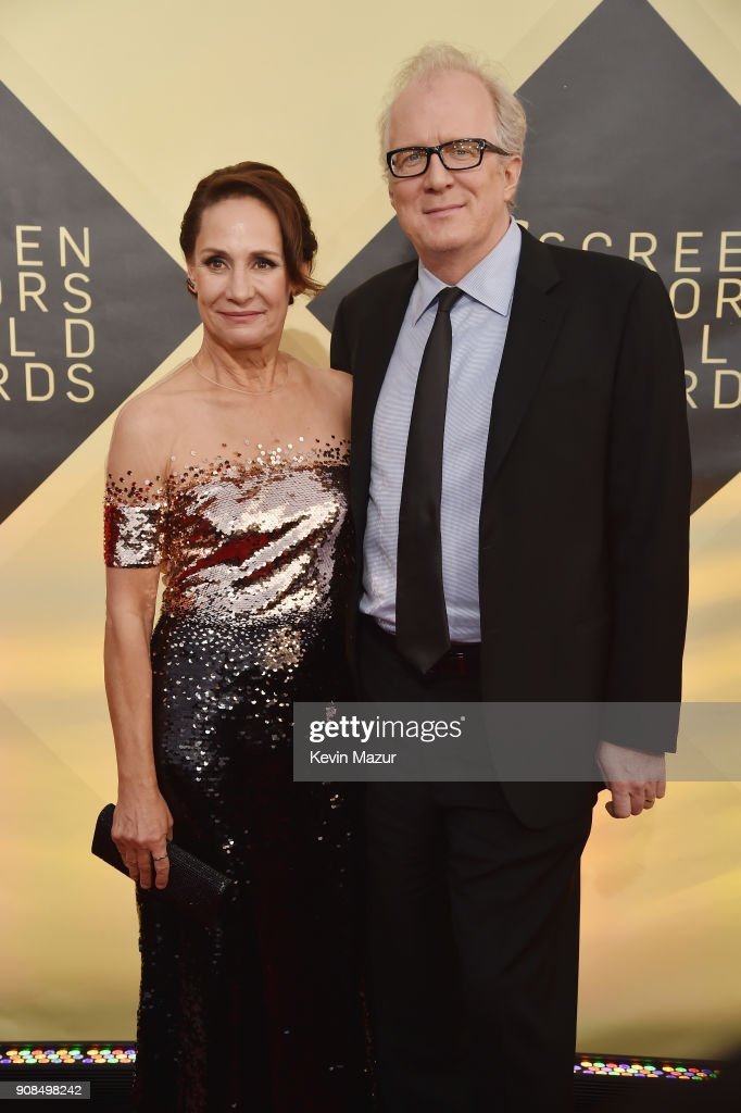 Actor Laurie Metcalf (L) and writer Tracy Letts attend the 24th Annual Screen Actors Guild Awards at The Shrine Auditorium on January 21, 2018 in Los Angeles, California. 27522_007