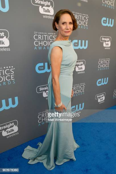 Actor Laurie Metcalf attends The 23rd Annual Critics' Choice Awards at Barker Hangar on January 11 2018 in Santa Monica California