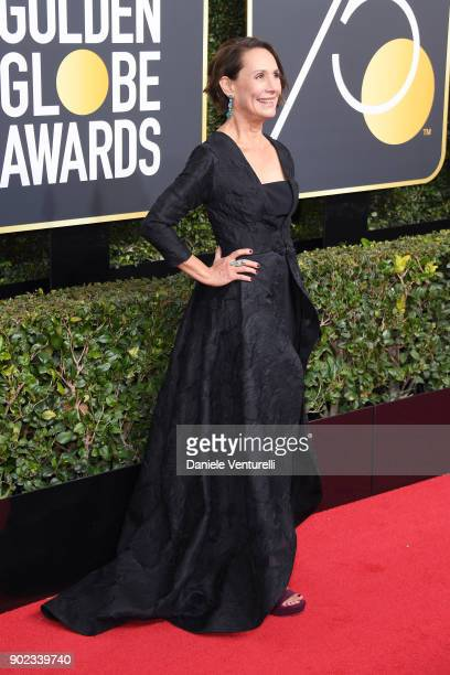 Actor Laurie Metcalf attends The 75th Annual Golden Globe Awards at The Beverly Hilton Hotel on January 7 2018 in Beverly Hills California
