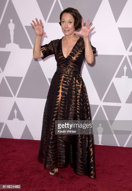 Actor Laurie Metcalf attends the 90th Annual Academy Awards Nominee Luncheon at The Beverly Hilton Hotel on February 5 2018 in Beverly Hills...